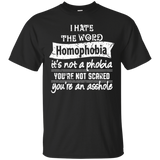 Anti Homophobia LGBT Shirt Gay pride ultra cotton tshirt for men