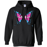 Trans Pride Butterfly black hoodie for men & women | Unique Design Trans Pride black hoodie for men & women