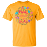 Love Outside The Box Yellow T Shirt LGBT Pride round neck shirt gay pride tshirt