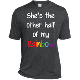 dark grey color lesbian couple tshirt for women