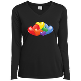 Vibrant Heart Gay Pride Black Full Sleeves T Shirt for Women  LGBT Pride Tshirt for Women