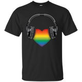 Listen to Your Heart LGBT Pride black half sleeves Tshirt for men