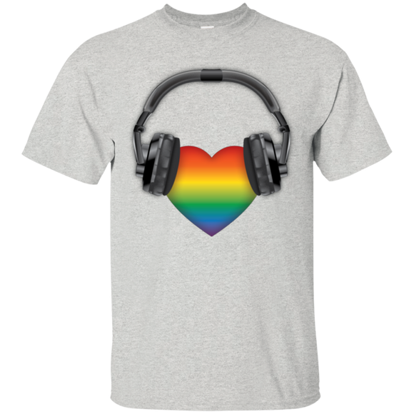Listen to Your Heart LGBT Pride Tshirt for men