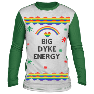 Big Dyke Energy Ugly Christmas Sweater