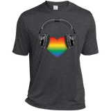 Listen to Your Heart LGBT Pride grey tshirt for men
