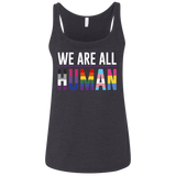 We Are All Human black Tank top for women, equality tank top for women