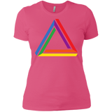 Funky Gay Pride Pink Shirt for Women Rainbow Triangle Gay Pride Tshirt for Women