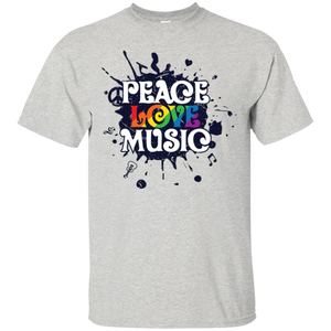 """Peace, Love, Music"" T Shirt"