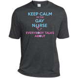 Keep Calm I'm The Gay Nurse dark grey round neck tshirt for Men