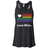 """LGBT Flag Love Wins"" LGBT Pride Black Tank Top for Women"