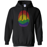 Gay Pride Thumb Print black hoodie for men & women Rainbow Thumb print unisex hoodie