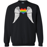 Gay Pride Guardian Angel black unisex black sweatshirt LGBT Guardian Angel unisex black sweatshirt