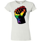 LGBT Pride Unity white T shirt for women
