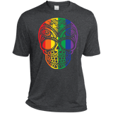Rainbow Skull dark gray T Shirt for men LGBT Pride Tshirt for men