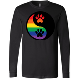 Rainbow Paw Yin Yang Pet long sleeves round neck Shirt For women LGBT Pride Tshirt for Women