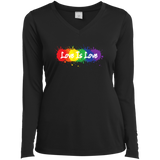"""Love is Love"" black full sleevs v-neck T Shirt for women LGBT Pride Equality tshirt for women"