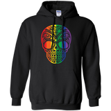 Rainbow Skull black sweatshirt for men & women