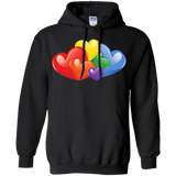 Vibrant Heart Gay Pride Black Full Sleeves Unsex Hoodie LGBT Pride Hoodie for Men & Women