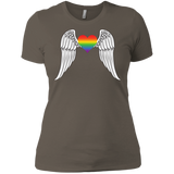 Gay Pride Guardian Angel Shirt for women LGBT Guardian Angel Tshirt for womens