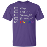 Human Check Box LGBT Pride Purple T Shirt Human Equality LGBT Pride Purple Tshirt for Men
