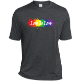 """Love is Love"" dark grey T Shirt for men LGBT Pride Equality tshirt for men"