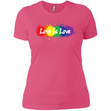 """Love is Love"" Pink T Shirt for women LGBT Pride Equality tshirt for women"