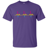 LGBT Pride Pansexual Heartbeat Purple tshirt for Men