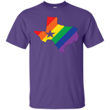 Rainbow Texas Pride purple Shirt for men texas print on shirt for men