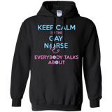 Keep Calm I'm The Gay Nurse black full sleeves Hoodie for Men & women