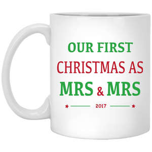 Mrs & Mrs First Christmas Mug