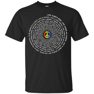 """Pride Month Peace"" Special Shirt LGBT Pride Black tshirt for men"