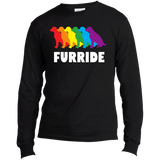 FURRIDE....Pride black long sleeves tshirt for men | pet lover tshirt