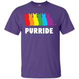 PURRIDE....Pride Purple Half sleeves tshirt for men | pet lover tshirt