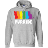 PURRIDE....Pride grey long sleeves hoodie for men & women | pet lover tshirt