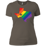 LGBT Pride texas print on women tshirt
