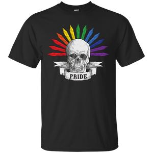Gay Pride Halloween Skull Shirt