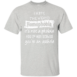 Anti Homophobia LGBT Shirt for men Gay pride ultra cotton grey tshirt for men