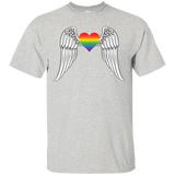 Gay Pride Guardian Angel Shirt LGBT Guardian Angel Tshirt for Men's