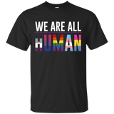 We Are All Human T Shirt, black shirt for men LGBT Pride black t shirt for men