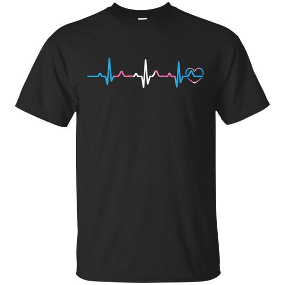 Trans Pride Heartbeat T Shirt,