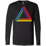 Funky Gay Pride Black Fullsleeves Shirt for Men Rainbow Triangle Gay Pride Tshirt for Men