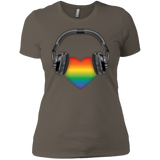 Listen to Your Heart LGBT Pride tshirt for women
