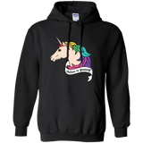 Believe in yourself unicorn black Hoodie for Men & Women  LGBT Pride Believe in yourself Unisex Hoodie