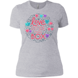 Love Outside The Box Half Sleeves tshirt for women LGBT Pride frey round neck women tshirt