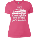 Anti Homophobia LGBT pink women Shirt Gay pride ultra cotton tshirt for women