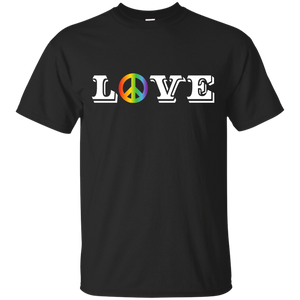 Love Peace Gay Pride black Shirt for men