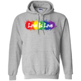 """Love is Love"" grey Hoodie for men & women LGBT Pride Equality Hoodie for men & women"
