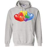 Vibrant Heart Gay Pride Grey Full Sleeves Unsex Hoodie LGBT Pride Hoodie for Men & Women