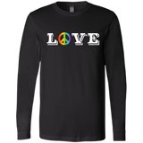 Love Peace Gay Pride long sleeves tshirt for men
