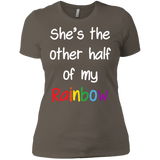 halfl sleeves lesbian couple tshirt for women